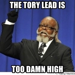 Too high - The tory lead is too damn high
