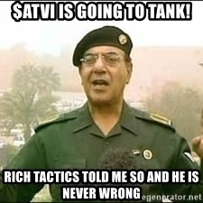 Baghdad Bob - $ATVI is going to tank! Rich Tactics told me so and he is never wrong