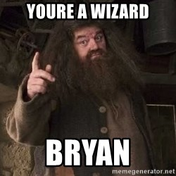 Hagrid - Youre a Wizard Bryan