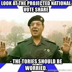 Comical Ali - Look at the projected national vote share  - THE TORIES SHOULD BE WORRIED.