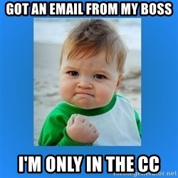 yes baby 2 - Got an email from my boss I'm only in the cc