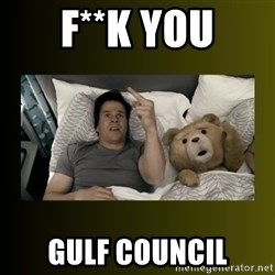 ted fuck you thunder - f**k you Gulf council