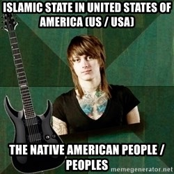 Progressive Guitarist - Islamic State in United States of America (US / USA)  The Native American People / Peoples