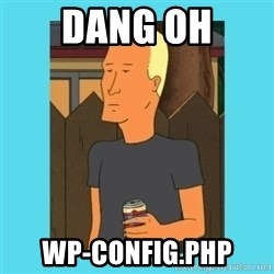 Boomhauer - DANG OH WP-CONFIG.PHP