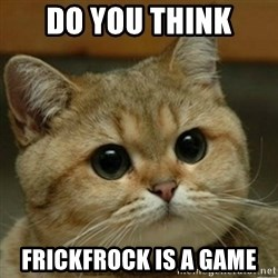 Do you think this is a motherfucking game? - do you think frickfrock is a game