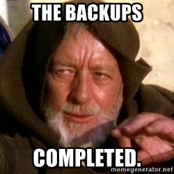 JEDI KNIGHT - The Backups Completed.