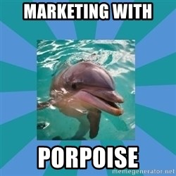 Dyscalculic Dolphin - Marketing with  porpoise