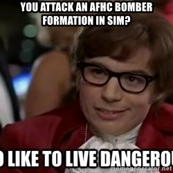 I too like to live dangerously - You attack an afhc bomber formation in sim?