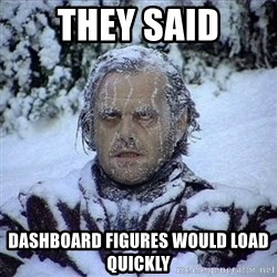 Frozen Jack - they said dashboard figures would load quickly