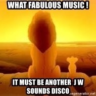 The Lion King - What fabulous music ! It must be anOther  J W Sounds Disco