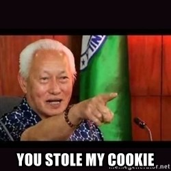 ALFREDO LIM MEME -  You stole my cookie