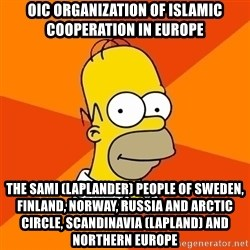 Homer Advice - OIC Organization of Islamic Cooperation in Europe The Sami (Laplander) People of Sweden, Finland, Norway, Russia and Arctic Circle, Scandinavia (Lapland) and Northern Europe