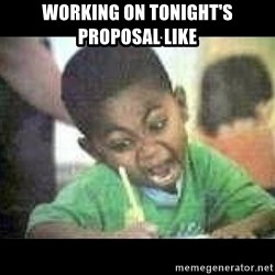 Black kid coloring - Working on tonight's Proposal like