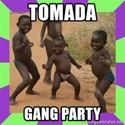 african kids dancing - tomada  gang party