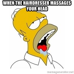 Homer Simpson Drooling - When the hairDrEsser massages your head