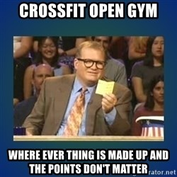 drew carey - CROSSFIT OPEN GYM  Where ever thing is made up and the points don't matter