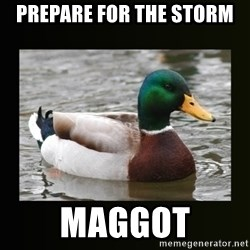 good advice duck - Prepare for the storm Maggot
