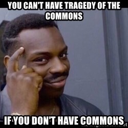 You Can't If You Don't - You can't have tragedy of the commons if you don't have commons
