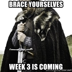 Ned Game Of Thrones - brace Yourselves Week 3 is coming