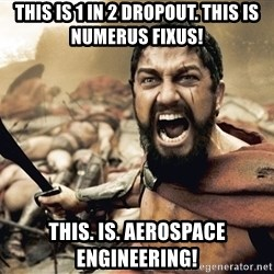 Spartan300 - THIS IS 1 IN 2 DROPOUT. THIS IS NUMERUS FIXUS! This. Is. Aerospace engineering!