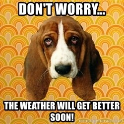 SAD DOG - Don't worry... The weather will get better soon!