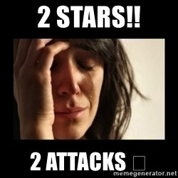 todays problem crying woman - 2 Stars!! 2 attacks 😓