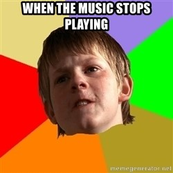 Angry School Boy - When the music stops playing