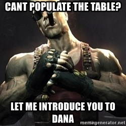 Duke Nukem Forever - cant populate the table? let me introduce you to dana