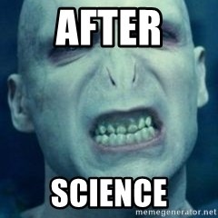 Angry Voldemort - after science