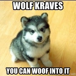 Baby Courage Wolf - Wolf Kraves  you can woof into it