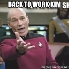Patrick Stewart WTF - back to work kim