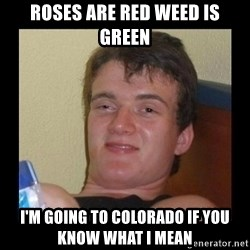 Weed Guy Walter - Roses are red weed is green I'm going to Colorado if you know what I mean