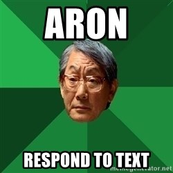 High Expectations Asian Father - Aron  ResponD to text