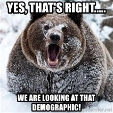Cocaine Bear - yes, that's right..... we are looking at that demographic!