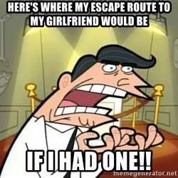 Timmy turner's dad IF I HAD ONE! - Here's where my escape route to my girlfriend Would be If i had One!!