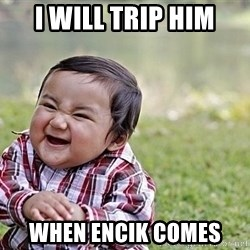 Evil Asian Baby - i will trip him when encik comes