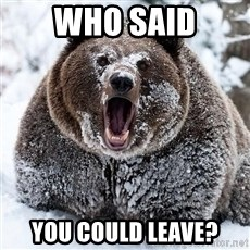 Cocaine Bear - who said you could leave?