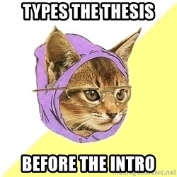 Hipster Kitty - Types the thesis before the intro