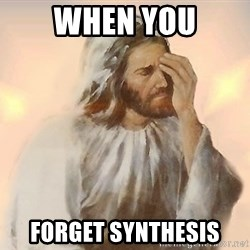 Facepalm Jesus - when you forget synthesis