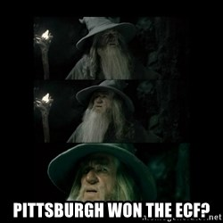 Confused Gandalf -  Pittsburgh won the ecf?