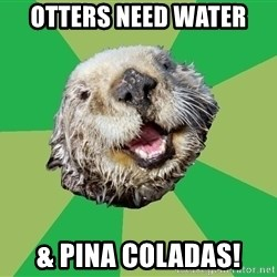 Ocd Otter - Otters need water & pina coladas!