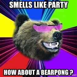 Party Bear - smells like party how about a bearpong ?