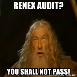 Gandalf You Shall Not Pass - Renex Audit? You shall not pass!