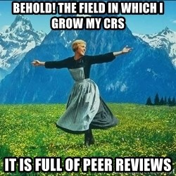 Look at all the things - Behold! The field in which I grow my CRs It is full of peer reviews