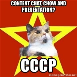Lenin Cat Red - Content chat, chow and presentation? cccp