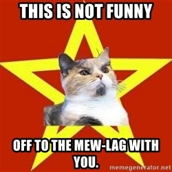 Lenin Cat Red - this is not funny off to the mew-lag with you.