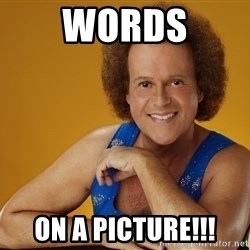 Gay Richard Simmons - Words on a picture!!!