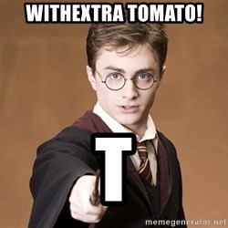Harry Potter spell - Withextra Tomato! T