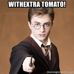 Harry Potter spell - Withextra tomato!