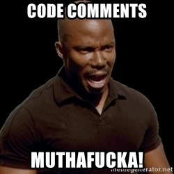 surprise motherfucker - Code Comments Muthafucka!